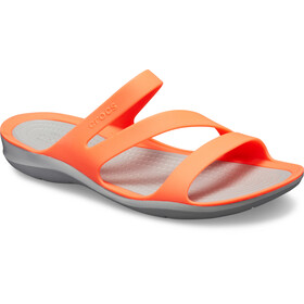 Crocs Swiftwater Sandals Damen bright coral/light grey